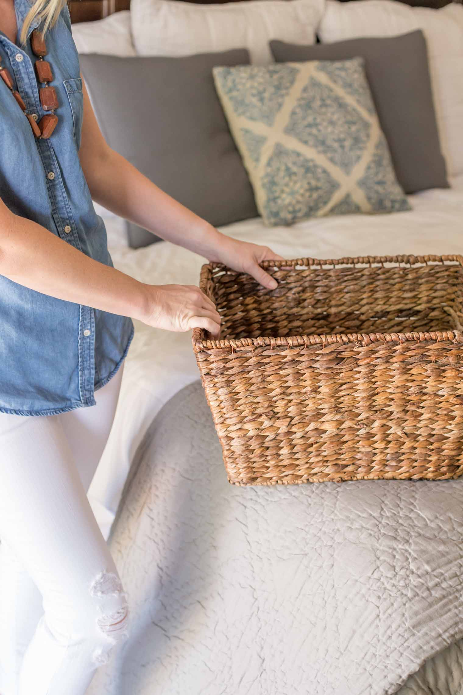 A simple but effective plan for keeping the daily clutter that collects in my house under control, using a basket and 15 minutes a day.
